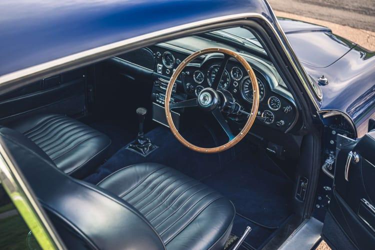 interior of 1969 Aston Martin DB6 Mk2