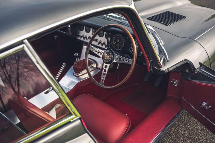 interior of Jaguar E Type