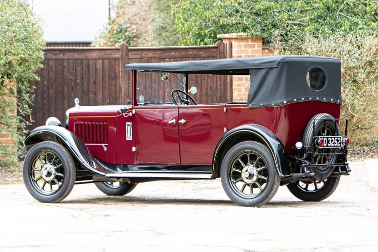 rear of 1930 Austin Heavy Twelve Open Tourer Deluxe