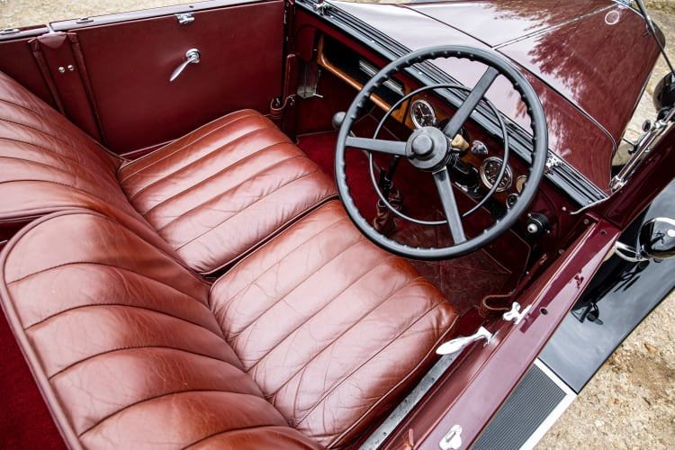 interior of 1930 Austin Heavy Twelve Open Tourer Deluxe