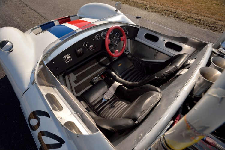 interior of 1964 Cooper Monaco Type 61 Sport Racer