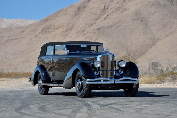 front og 1936 Duesenberg Model J Rollston Convertible Berline