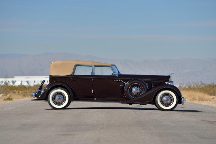 side of 1934 Packard 1108 Twelve Dietrich