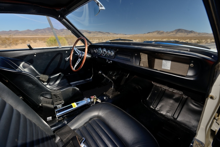 interior of 1965 Shelby GT350R Fastback