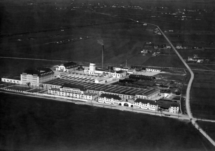 Aerial picture of Bayerische Motoren Werke at Moosacherstrasse in 1918-1920