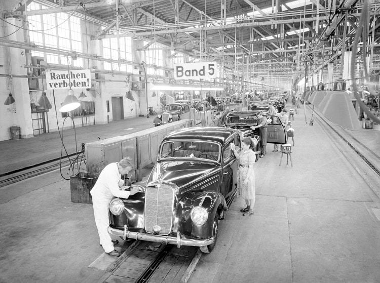 Production at the Sindelfingen plant