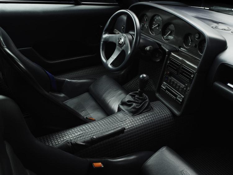 interior of the Bugatti EB110 SS