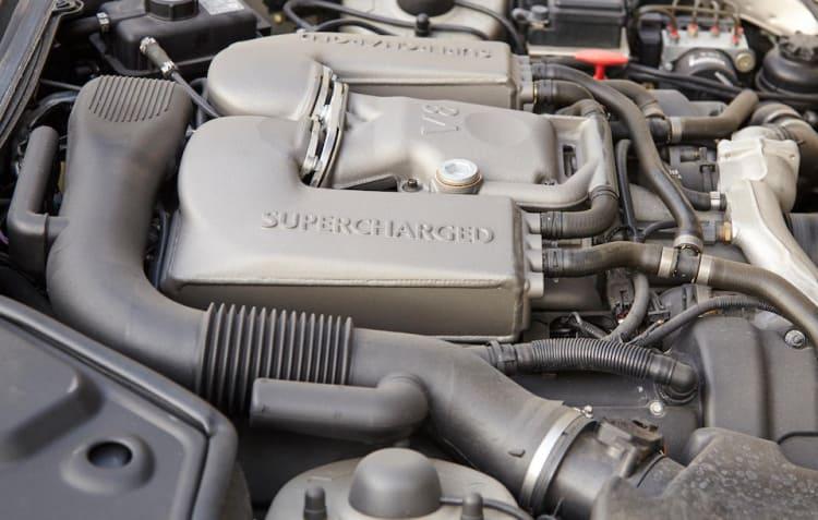 Supercharged engine of Jaguar XKR