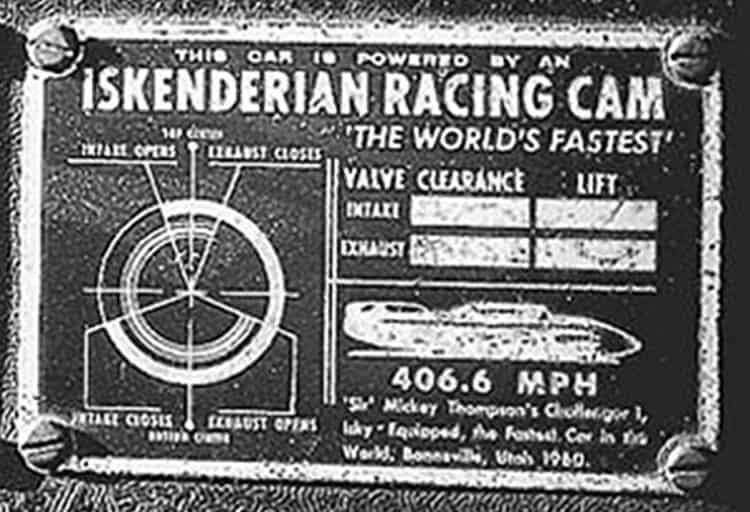 Iskenderian Racing Cam