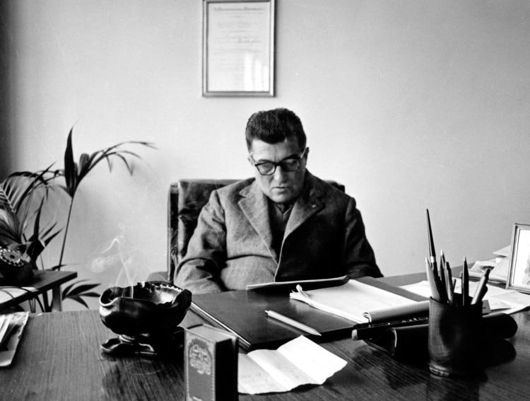 Ferruccio in his office