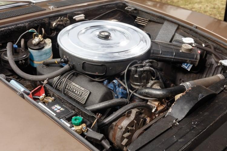 engine of 1978 De Tomaso Longchamp