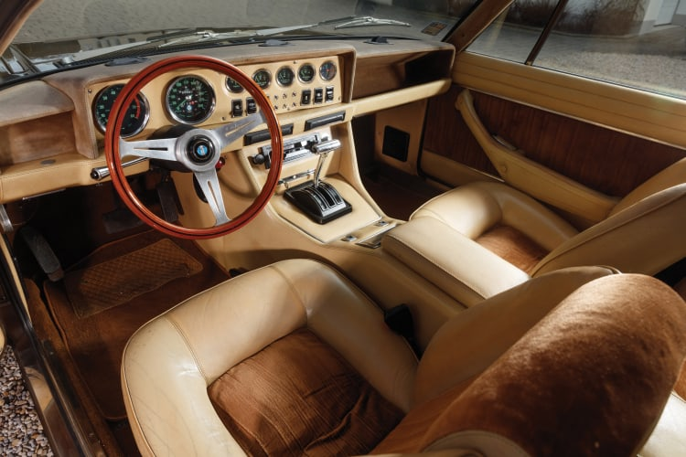 interior of 1978 De Tomaso Longchamp