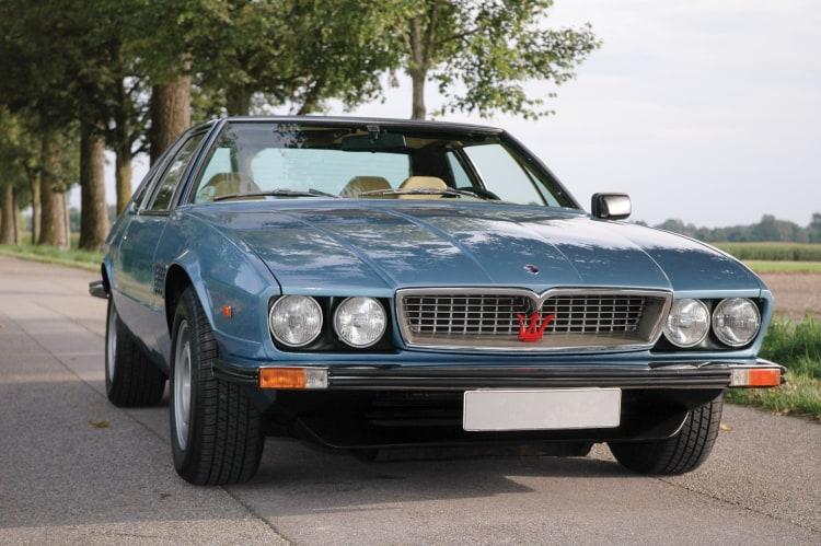 front of 1976 Maserati Kyalami