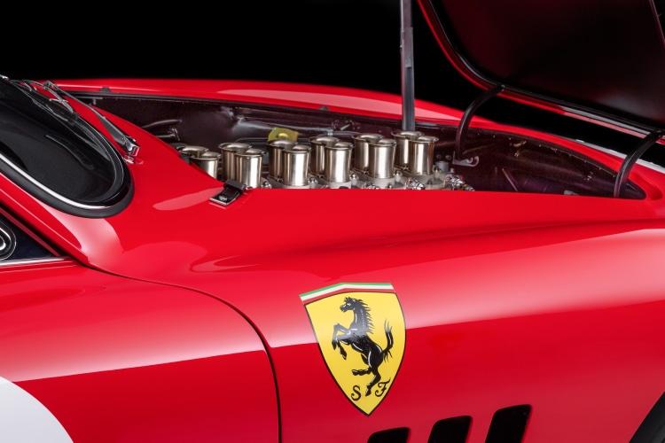 hand pained Ferrari Emblem