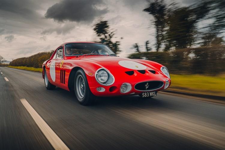 driving the Ferrari 330 LMB recreation