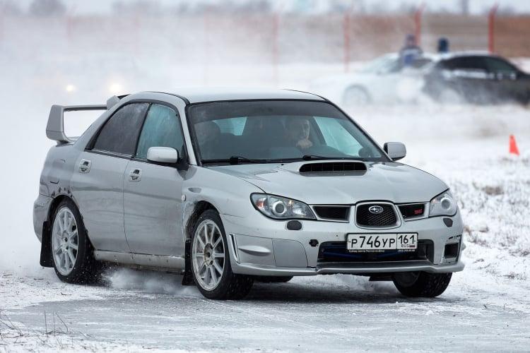 racing the Subaru WRX