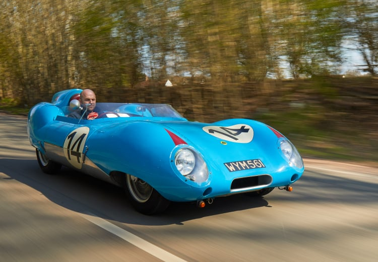 driving the 1957 Lotus Eleven