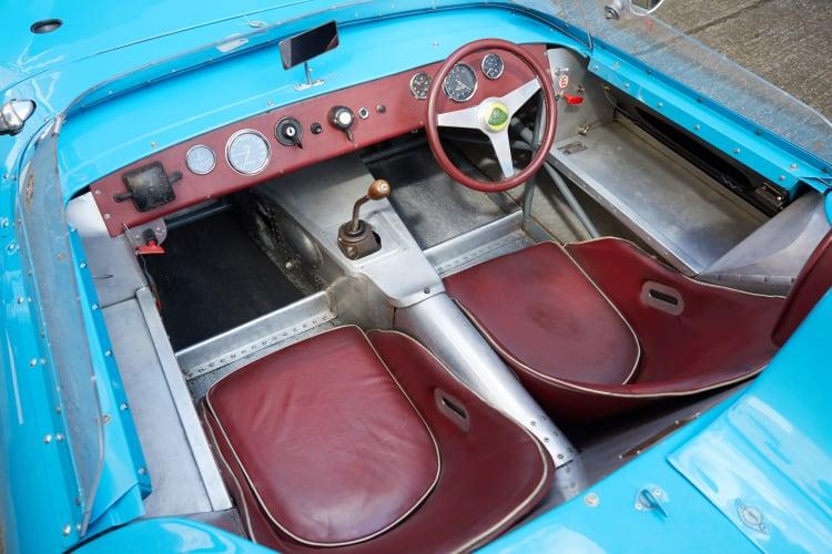 cockpit of Lotus Eleven
