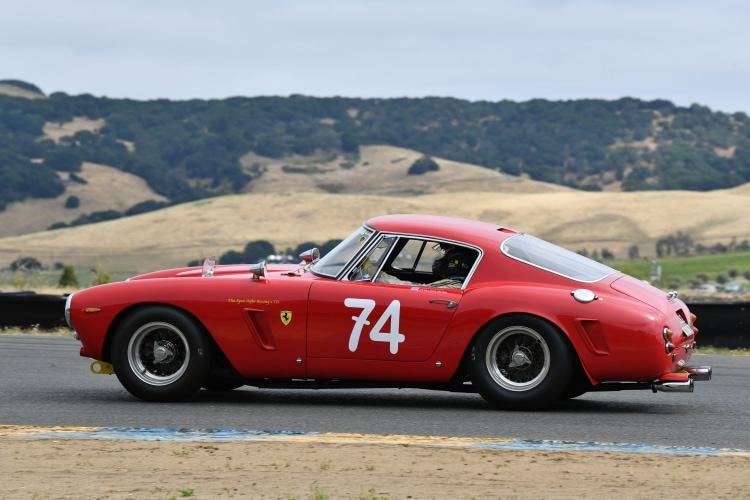 Historic cars at the Velocity Invitational event