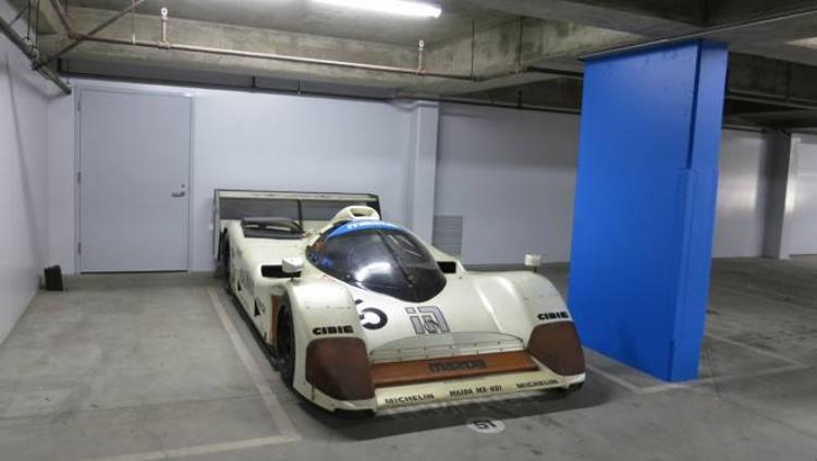 MXR-01 prototype race car in garage