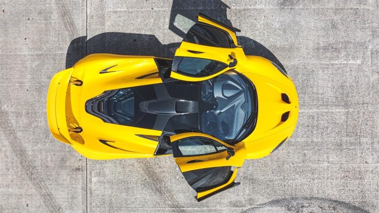 looking down on the McLaren P1