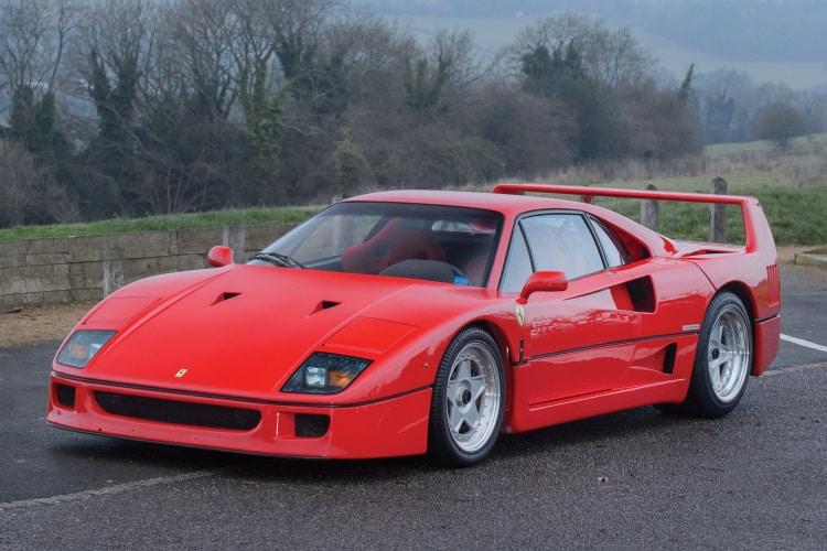 80s cars top 10 being Ferrari F40