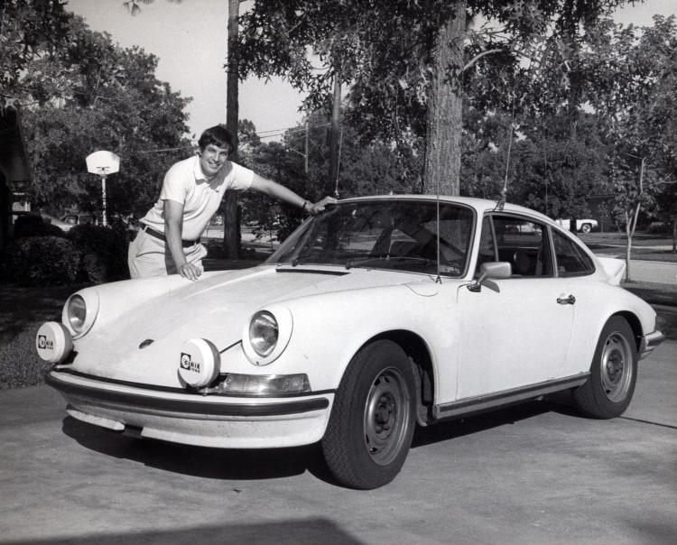 Bill Warner with Cannonball Porsche 1975