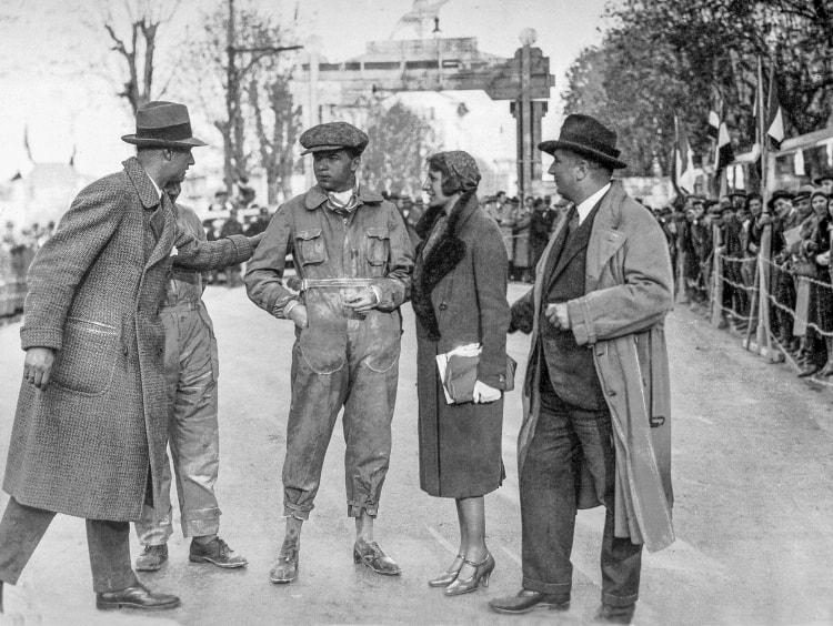 Rudolf Caracciola after his impressive victory