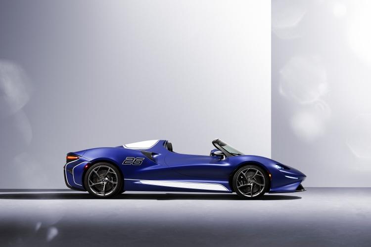 side of McLaren Elva Windscreen Version