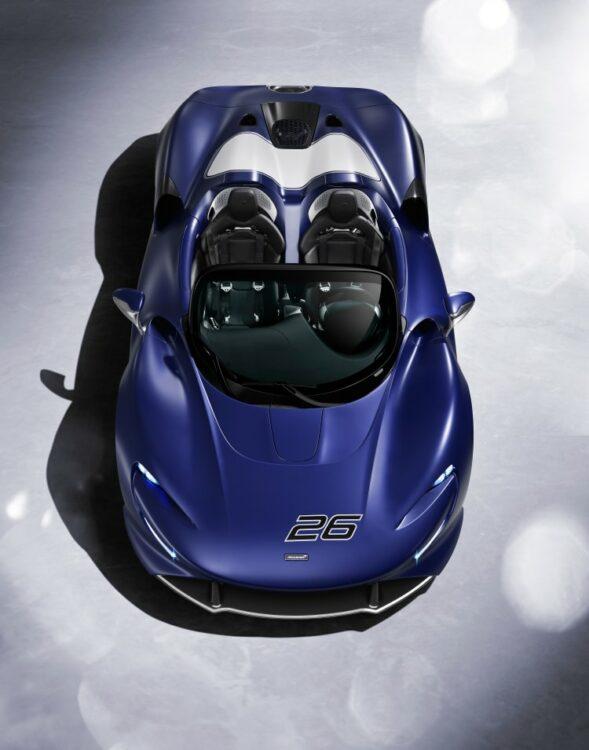 looking down on McLaren Elva Windscreen Version