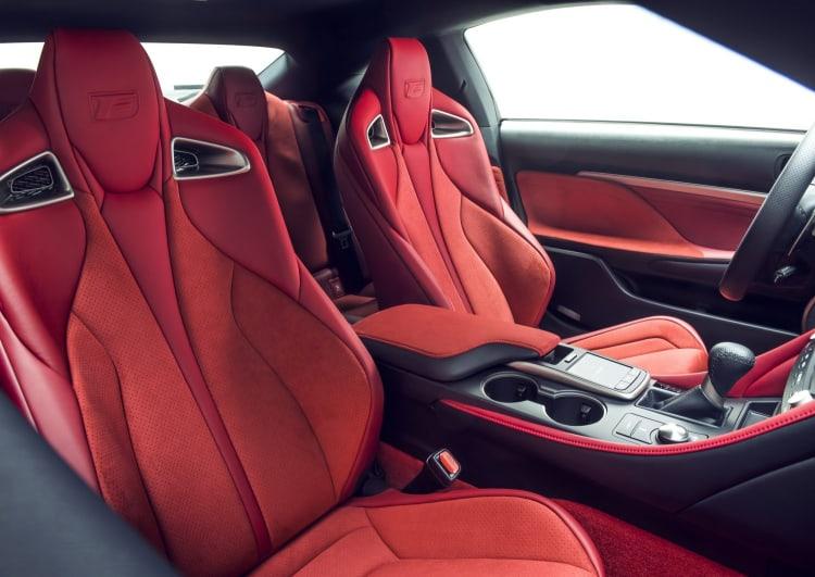 interior of the Lexus RC F Track Edition
