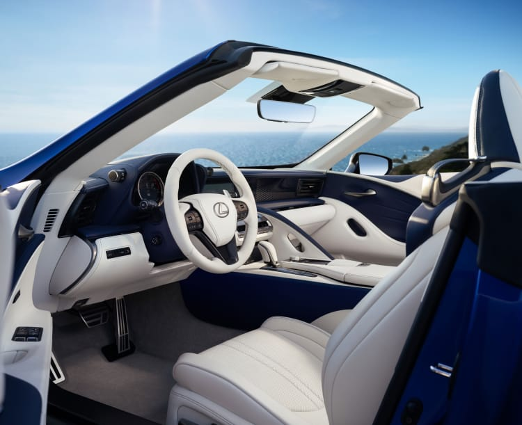 interior of 2021 LC 500 Convertible Inspiration Series