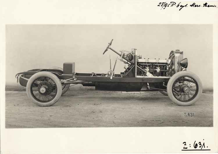 chassis of the Mercedes 28/95 hp