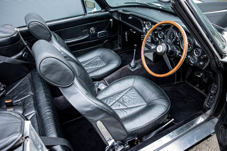 interior of Aston Martin DB6 Volante