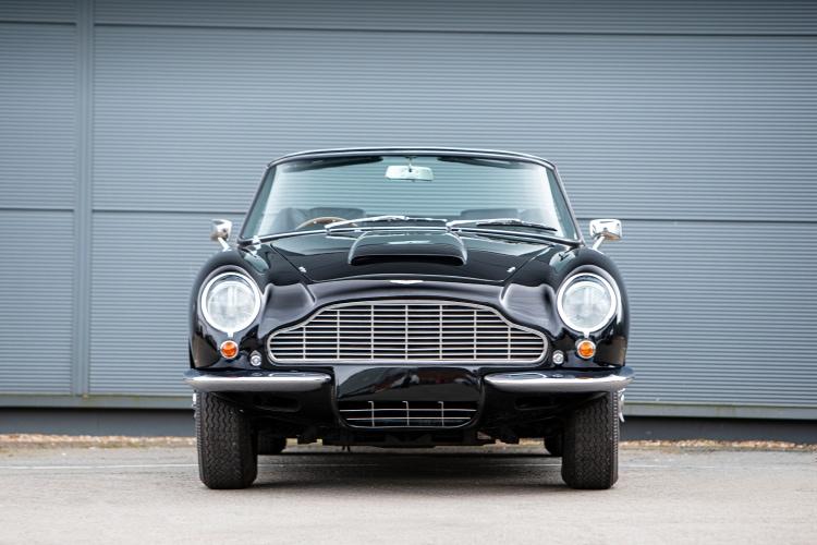 front of Aston Martin DB6 Volante