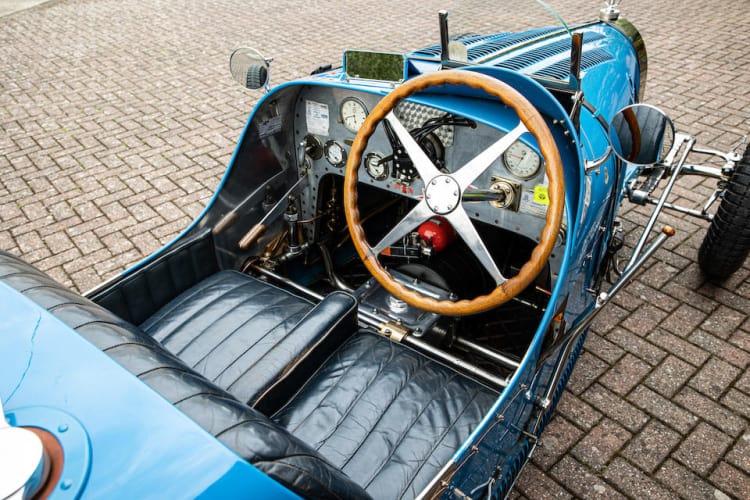 driving 1927 Bugatti Type 35B Grand Prix Two-Seater