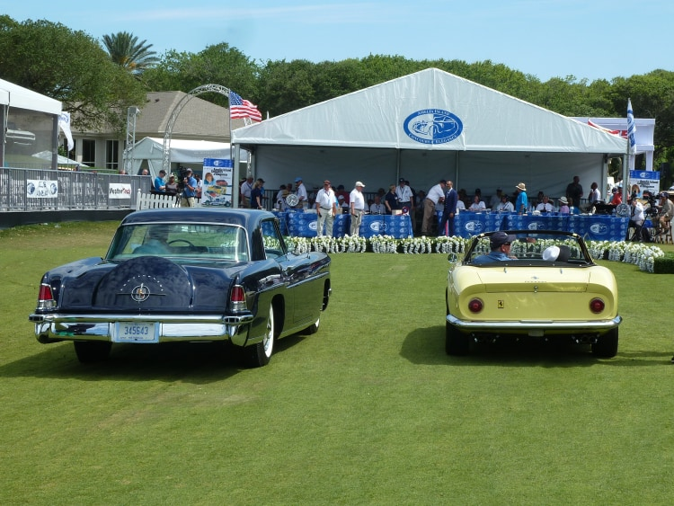 57 Continental Mk II, paired with the Ferrari GTS4 that both appeared in McQueens Thomas Crown Affair and raced at Sebring