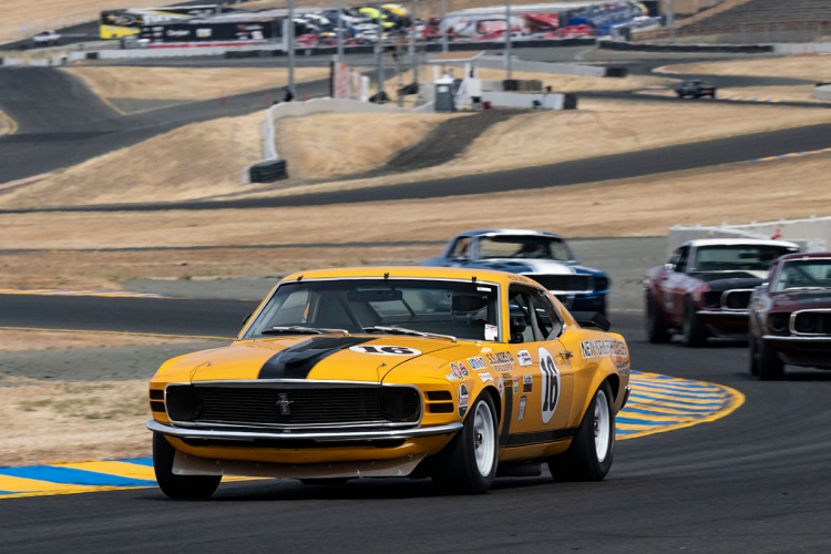 #16-Jim Hague - 1970 Bud Moore Boss 302 Mustang  Originally driven by George Follmer, Warren Tope, and Bill Clawson