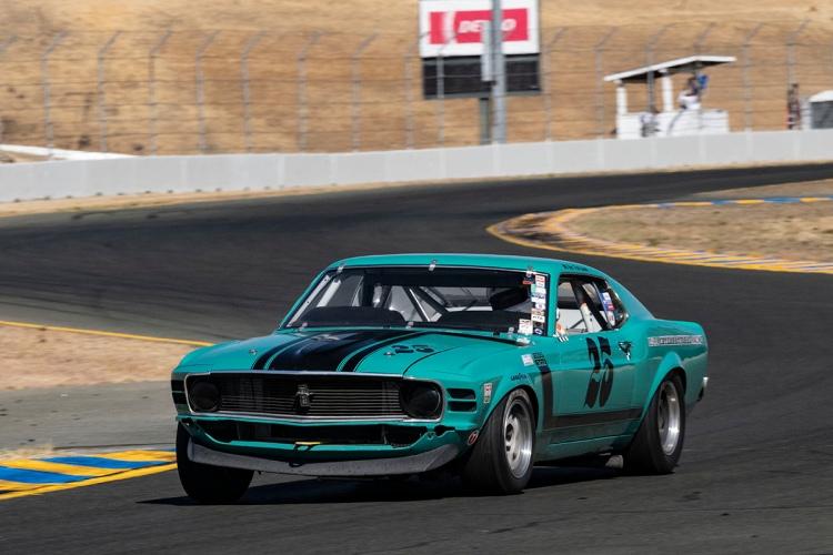 #25-Craig Conley - Rancho Santa Fe, California 1970 Boss 302 Mustang  Originally driven by Mike Folsom, James Watters, John Cleveland, and Scott Beshore