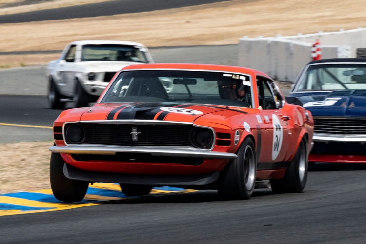 Forrest Straight - Mt. View, California 1970 Boss 302 Mustang # 57  Originally driven by Danny Moore