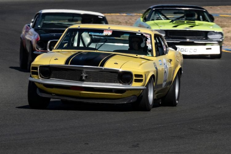 For the leaad in Saturday's race. #61 Jim Halsey - Los Angeles, California 1970 Boss 302 Mustang.  Originally driven by Dan Furey