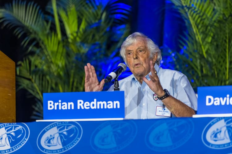 Brian Redman answering question