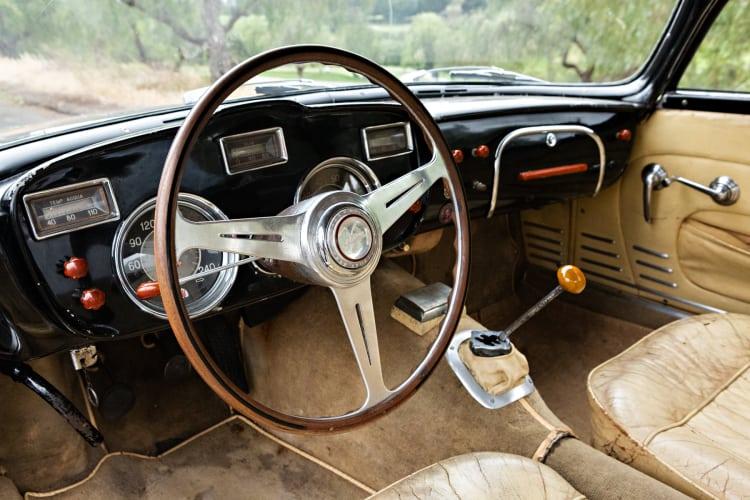 interior of 1956 Maserati A6G/54 Coupe