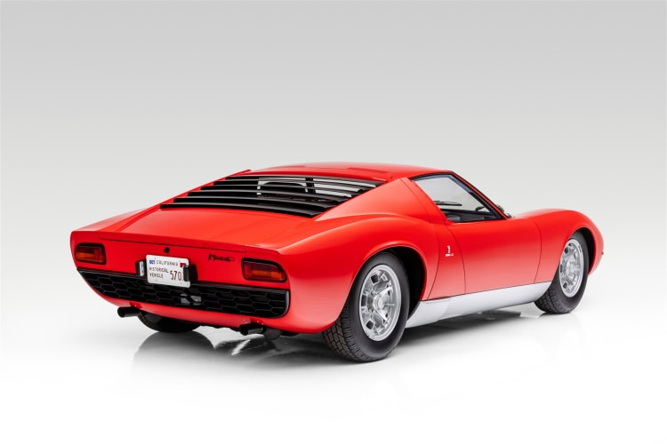 rear of 1968 Lamborghini Miura P400