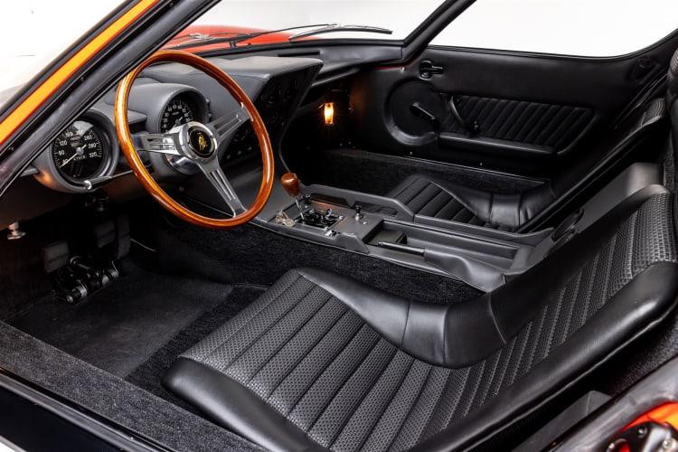 interior of 1968 Lamborghini Miura P400