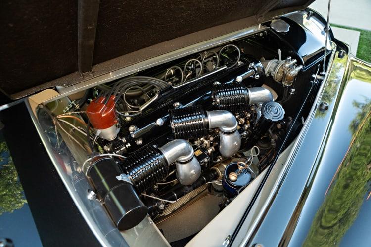 engine of 1949 Alfa Romeo 6C 2500 Villa d'Este