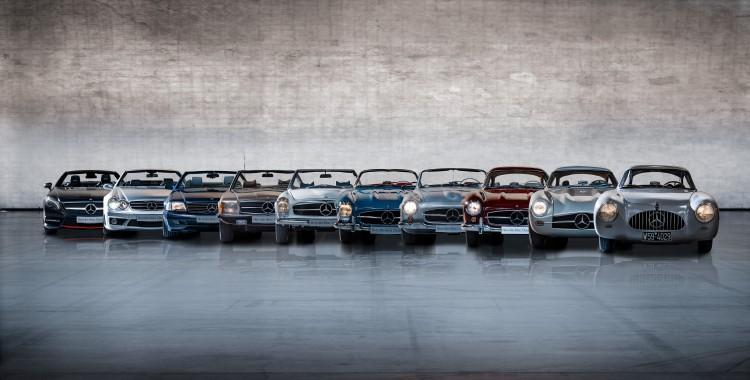 Mercedes SL line-up forward