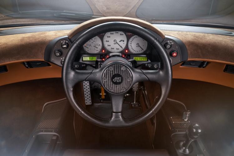 Interior of the McLaren F1