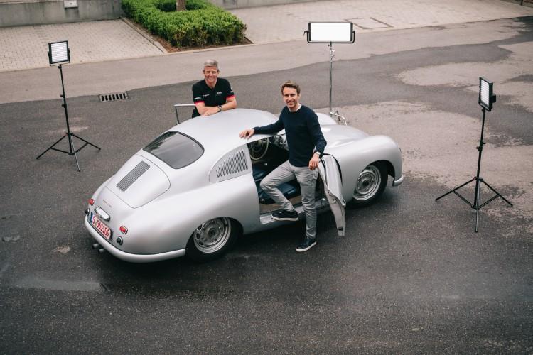 Porsche 356 SL and Fritz Enzinger and Timo Bernhard