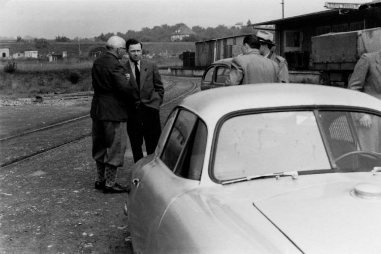 Ferry Porsche and 356 SL